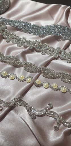 Diamante Crystal & Pearl Wedding Cake Banding