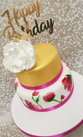 FLORAL PRINT Cake Kit - (Includes the cake)