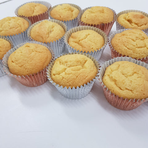 Undecorated cupcakes (12)