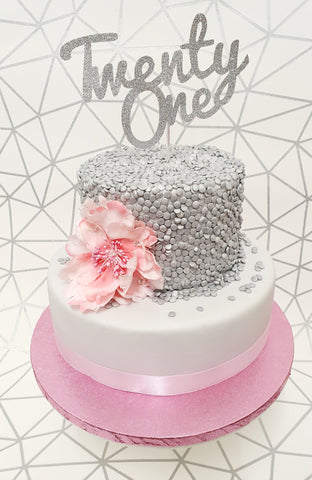 Birthday Sequins Cake Kit - (Includes the cake)