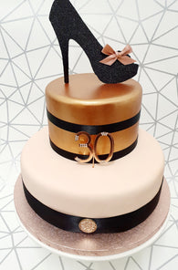 Glitter Shoe Cake Kit - (Includes the cake)