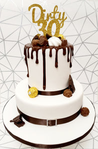Chocolate Drip Cake Kit - (Includes the cake)