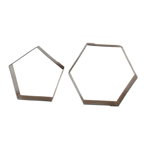 Football Cutter set - 2 pc Hexagon & Pentagon