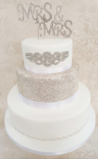 Wedding Cake Kit 'Crystale' - (Includes the cake)