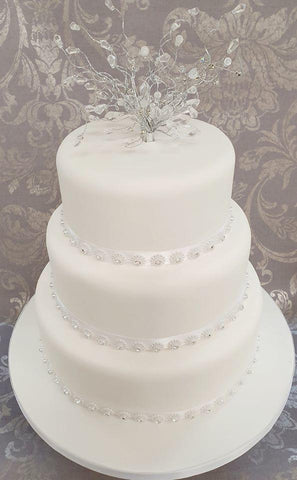 Wedding Cake Kit 'Diamonds'' - (Includes the cake)