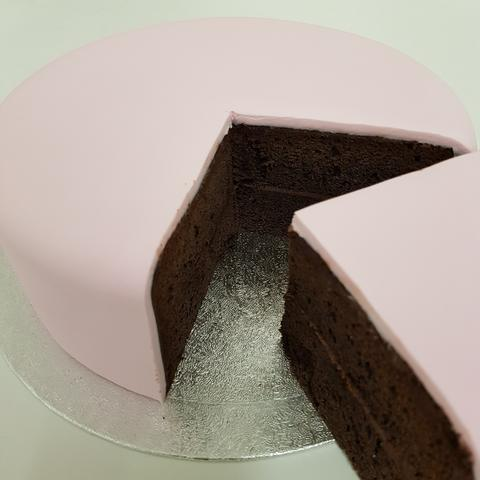 Plain Undecorated Iced CHOCOLATE Cake Base - (filled and covered with sugarpaste. PLEASE TELL US WHEN YOU NEED YOUR CAKE