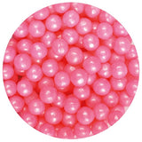 edible pink pearl balls dragees beads for cake decorating glasgow