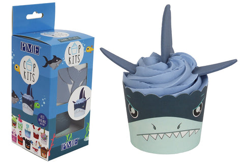 PME Shark Attack Cupcake Kit