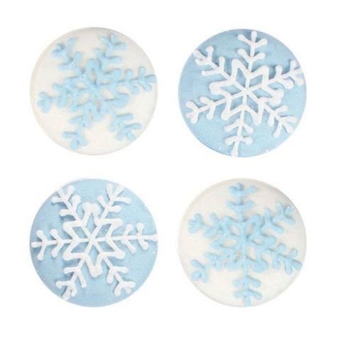 Snowflake Sugar Piping Decoration (Pack of 12)