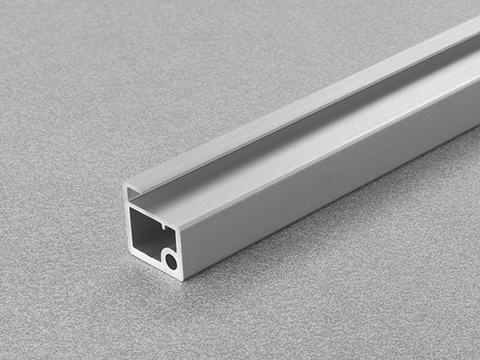 Salice Air Aluminium Door Profile Square Section for Glass 26mm width - DEL6LP300_