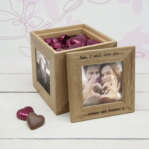 30 Days of Kisses Oak Photo Cube
