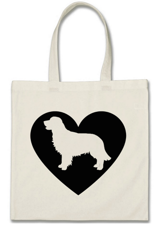 "Cotton Tote Bag - ""I Love My Golden Retriever"""