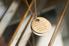 Follow Your Dreams Brass Necklace