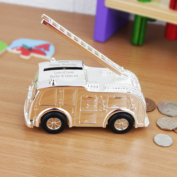 Fire Engine Money Box