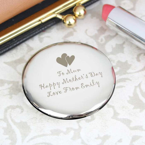 Hearts Round Compact Mirror