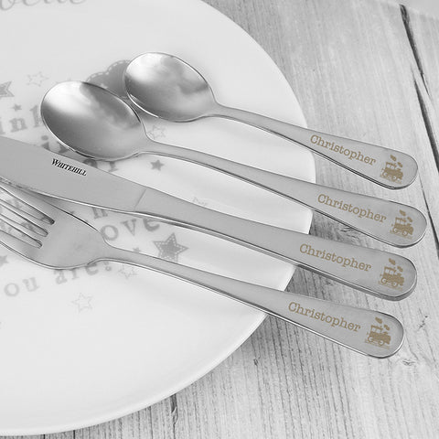 4 Piece Train Cutlery Set