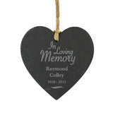 In Loving Memory Slate Heart