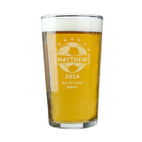 Football Pint Glass