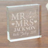 Mr & Mrs Large Crystal Token