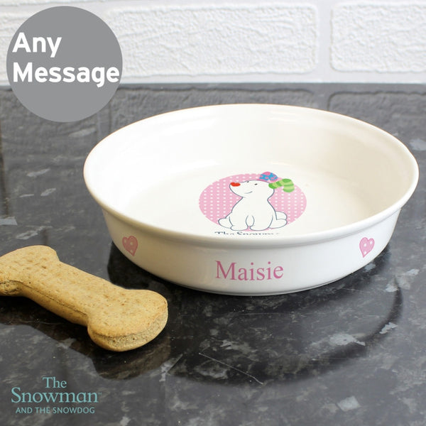 The Snowdog Pink Pet Bowl