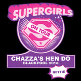 Supergirls Hen Do T-Shirt - Black - Extra Large