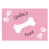Pink Paw Print Dog Placemat
