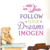Follow Your Dreams Pink Wall Art