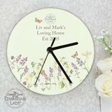Country Diary Wild Flowers Glass Clock