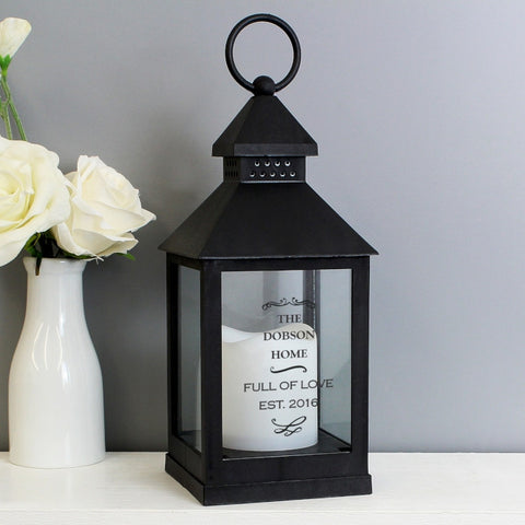 Antique Scroll Black Lantern