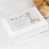 Hessian Giraffe Wooden Jewellery Box