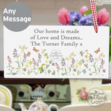 Country Diary Wild Flowers Wooden Sign
