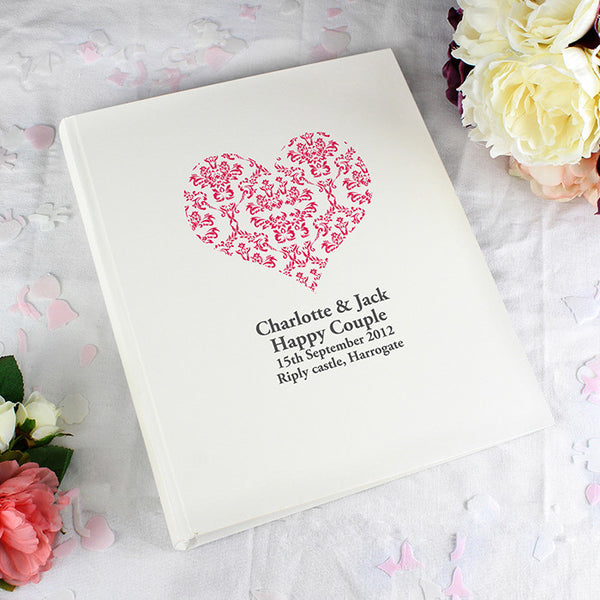 Ruby Damask Heart Traditional Album