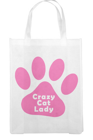 "Reusable Bag - ""Crazy Cat Lady"""