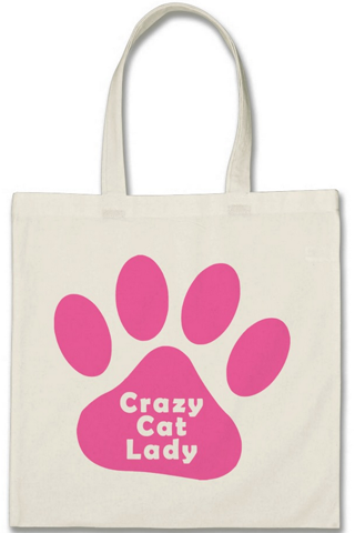 Cotton Tote Bag - Crazy Cat Lady