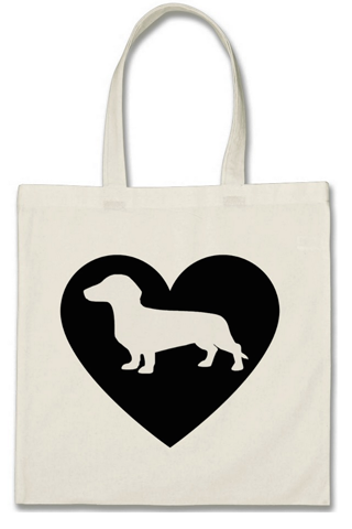 "Cotton Tote Bag - ""Dachshund"""