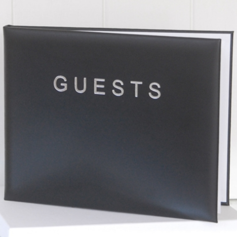 Large Black Guest Book