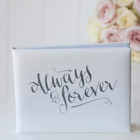 White Always & Forever Guest Book