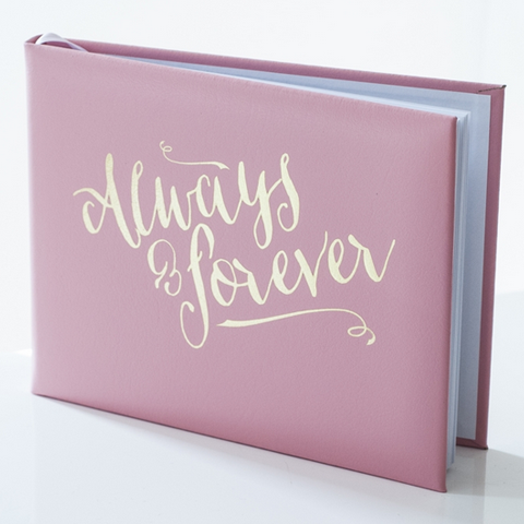Pink Always & Forever Guest Book