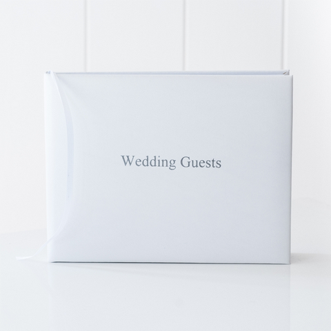 White Wedding Guest Book