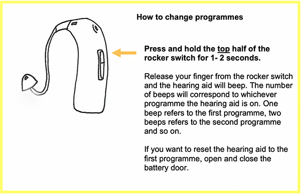 How to change programmes