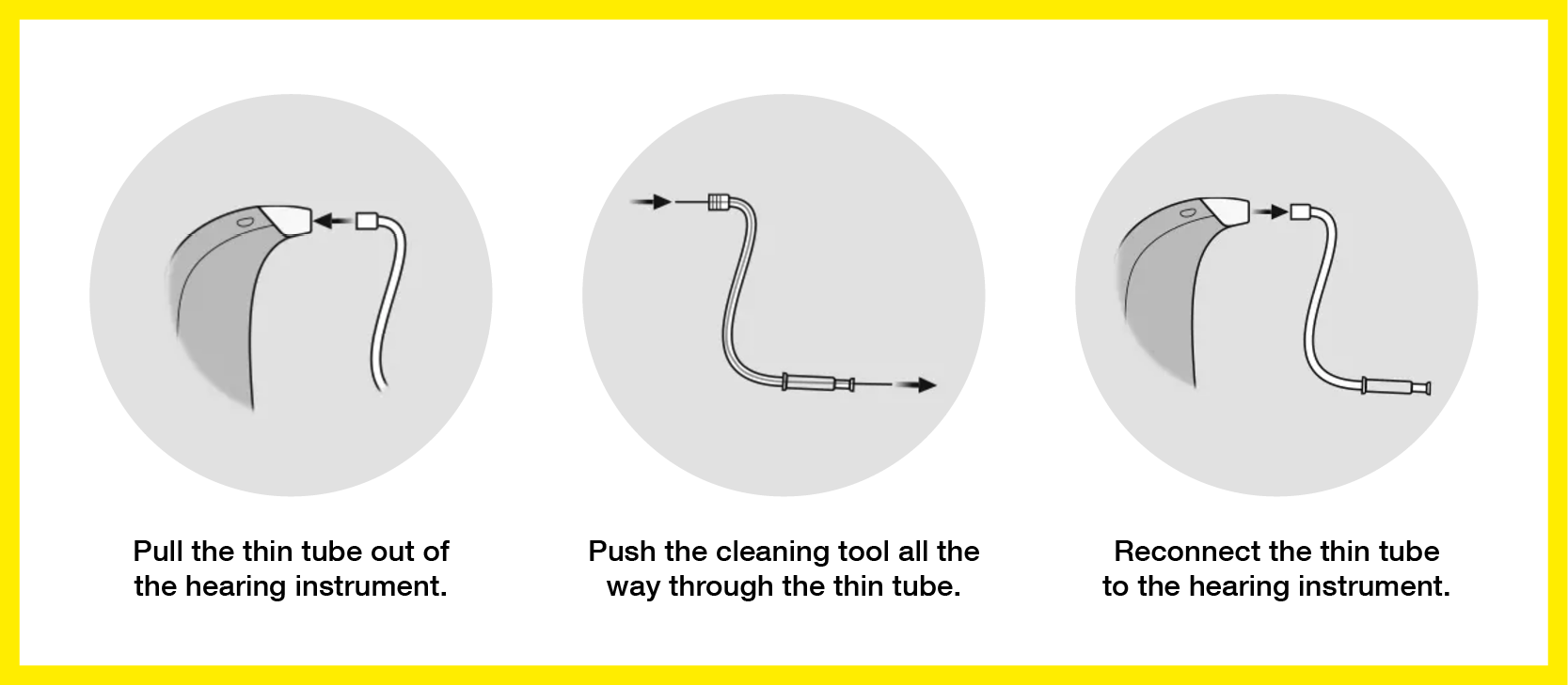How to clean the Corda thin tube