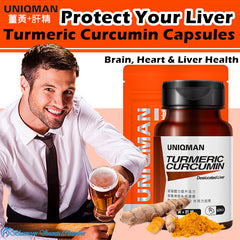 UNIQMAN Turmeric Curcumin Black Pepper+Liver Extract Capsules⭐薑黃+肝精 - Bluemoon Secrets Chamber