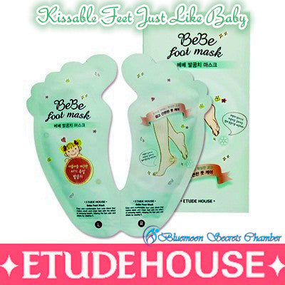 ETUDE HOUSE BeBe Foot Mask★BEBE Foot Exfoliation Mask★爱丽小屋BEBE足膜 脱皮去角 - Bluemoon Secrets Chamber