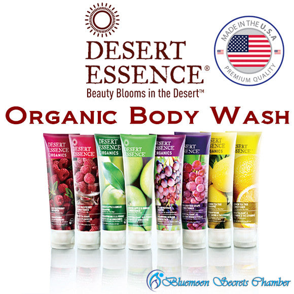 Desert Essence Organics Body Wash 237 ml★Coconut/Vanilla/Lavender/Apple/Almond★5 Flavors★