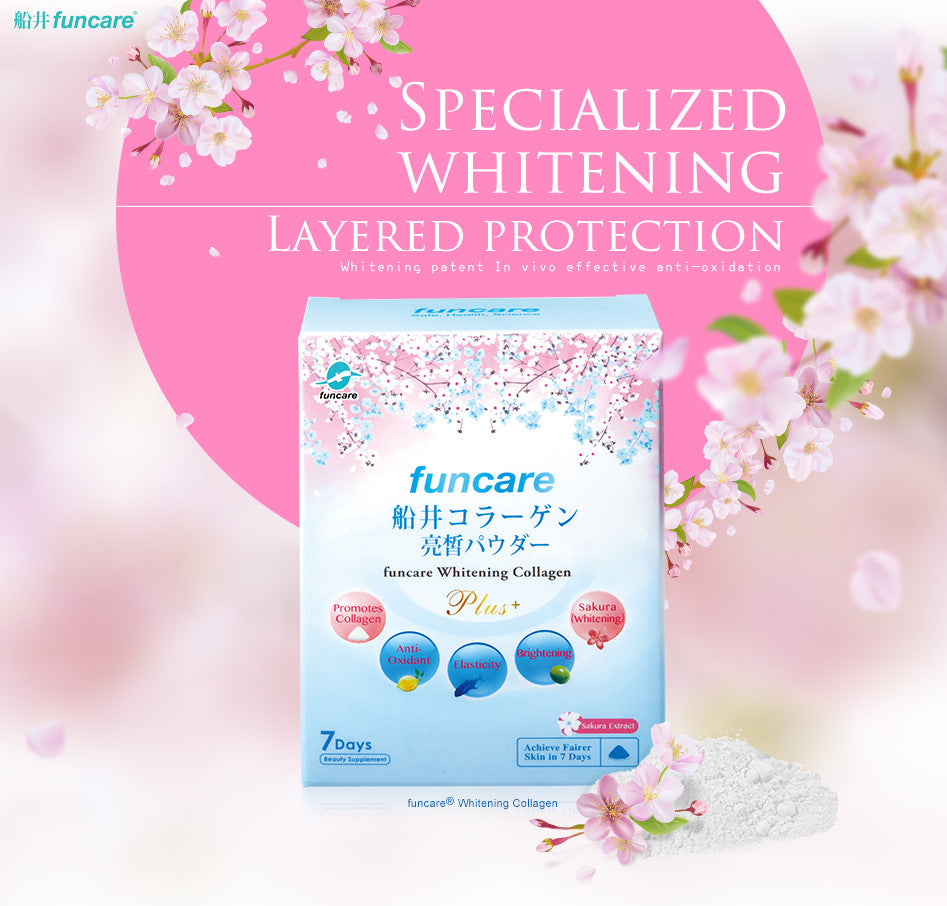 funcare®Collagen Whitening supplement/UV Protection/Made in Japan - Bluemoon Secrets Chamber