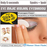Eye Majic Instant Eye Shadow Australia 5 Pairs Box + 1 Pair Free☆澳洲Eye Majic神奇三秒便利眼影贴 - Bluemoon Secrets Chamber