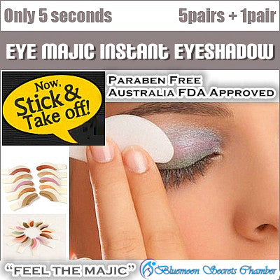 Eye Majic Instant Eye Shadow Australia 5 Pairs Box + 1 Pair Free☆澳洲Eye Majic神奇三秒便利眼影贴