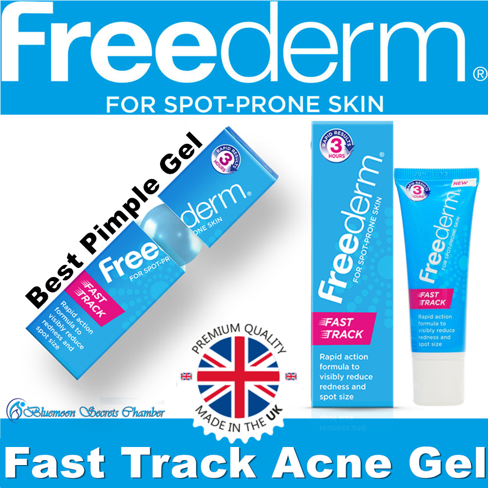 Freederm Fast Track Acne Pimple Spots Gel 25g from UK - Bluemoon Secrets Chamber
