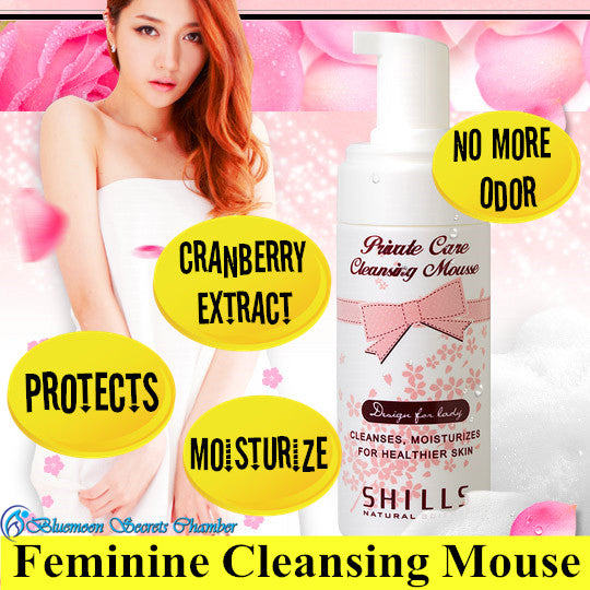 Shills Cherry Blossom Cranberry Private Care Cleansing Mousse/Feminine Wash/SHILLS蔓越莓私密粉嫩淨味慕絲150ML - Bluemoon Secrets Chamber