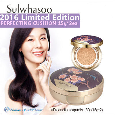 2016 Limited Edition! Sulwahsoo Evenfair Perfecting Cushion Foundation 15g + Refill 15g) SPF50 PA+++ - Bluemoon Secrets Chamber